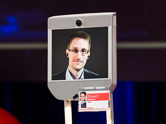 Edward Snowden speaks