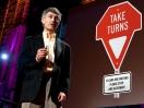 Gary Lauder's new traffic sign: Take Turns