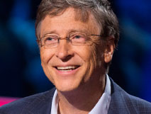 Bill Gates (with Melinda) - desaturate
