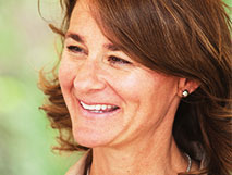 Melinda Gates (with Bill) - desaturate